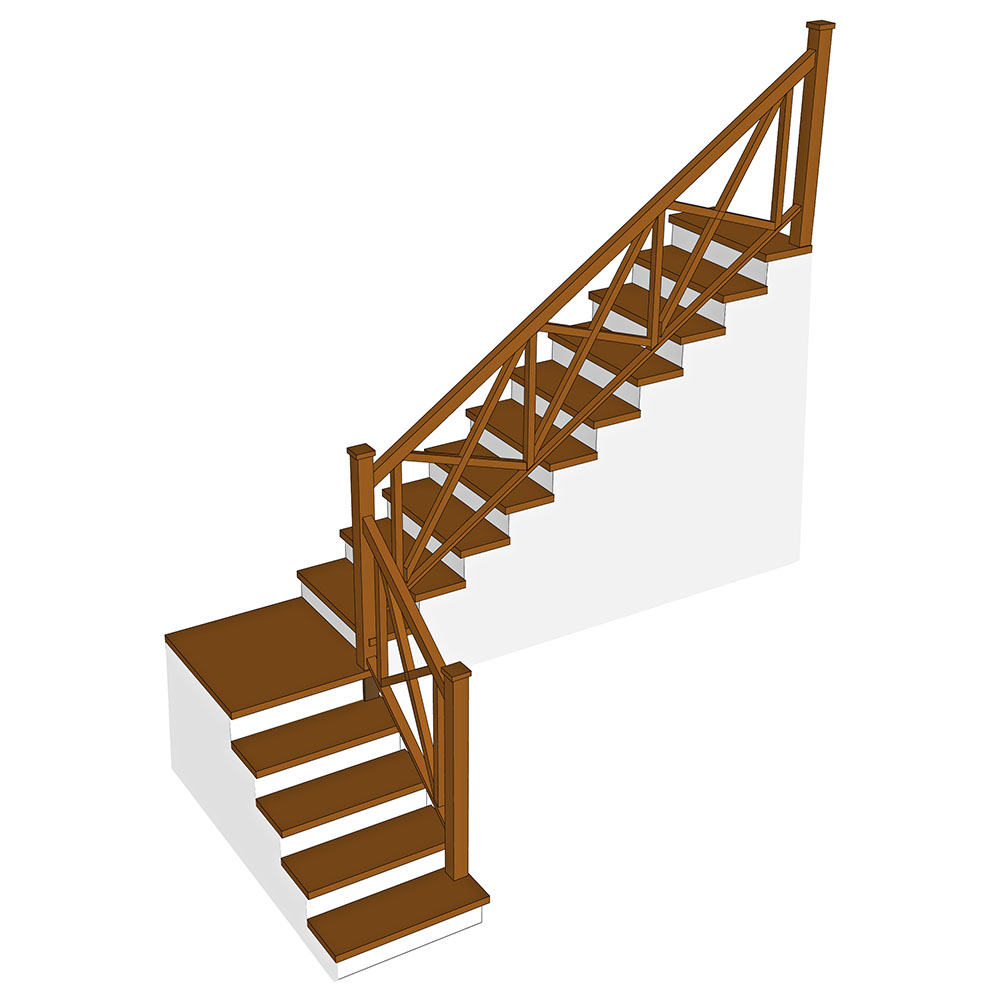 Dřevěné obložení betonových schodišť